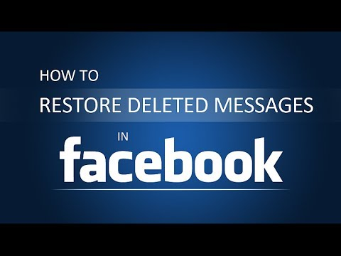 How To Restore Delete Messages On Facebook?