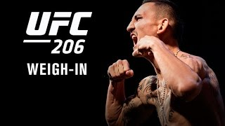 UFC 206: Official Weigh-in