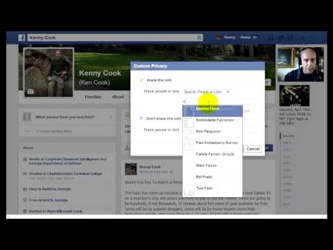 Facebook How To Post To A Specific Person or Group