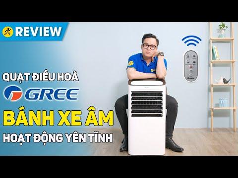 Quạt điều hoà Gree: hẹn giờ BẬT/TẮT 15 tiếng, ion lọc sạch không khí (KSWK-10X61D) • Điện máy XANH