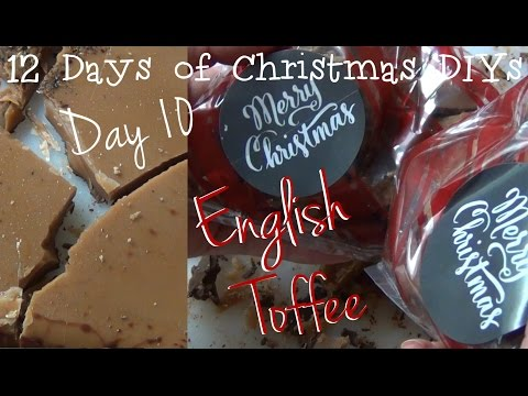 English Toffee without a candy thermometer ♥ 12 Days of Christmas DIYs - DAY TEN