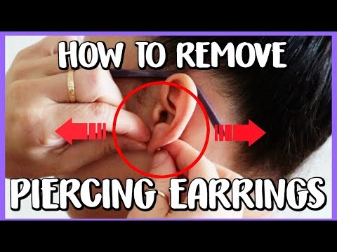 THE SECRET TO REMOVING PIERCING EARRINGS - HOW TO REMOVE