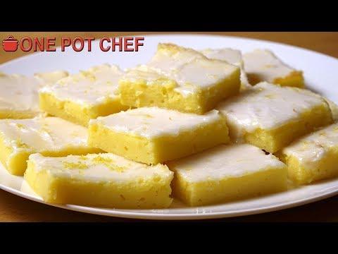Lemon Cream Cheese Brownies | One Pot Chef