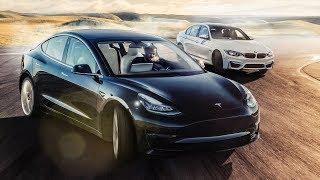 TESLA Model 3 vs BMW M3 Track Battle | Top Gear