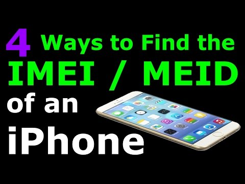 How do I find the ESN number on my iPhone? (also, IMEI and MEID)