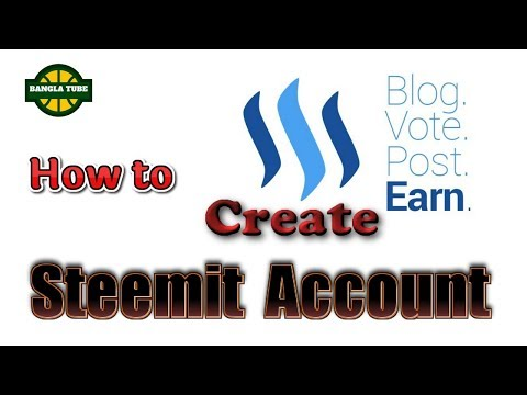 How to create steemit account on pc! How to open steemit account in bangla!