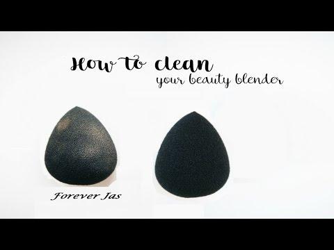 How To Clean Beauty Blender Sponge at Home Using Elf Brush Shampoo