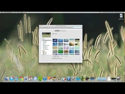 How to Change Desktop and Screensaver in Mac OS X