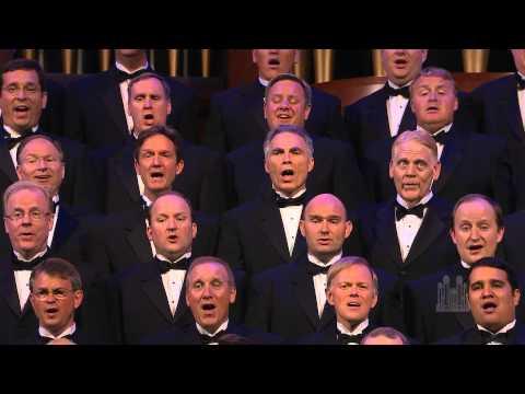 Men of the Mormon Tabernacle Choir sing