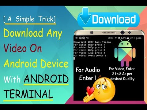 Download Any Video On Android Device With Android Terminal