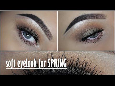 Soft spring eyelook without eyeliner