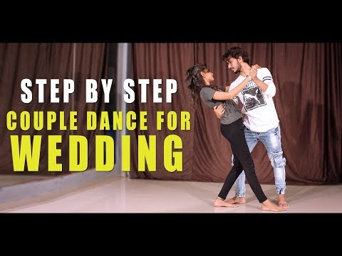 Couple Dance Step For Wedding & Party   Easy Salsa   Vicky Patel Dance Tutorial