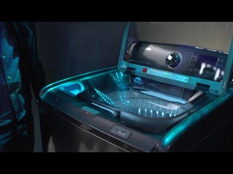 Samsung's new washing machine has a built-in sink
