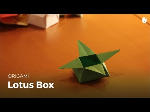 Lotus-shaped paper box
