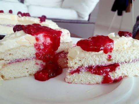 Keto Cake - Low Carb  Creamy raspberry Cake