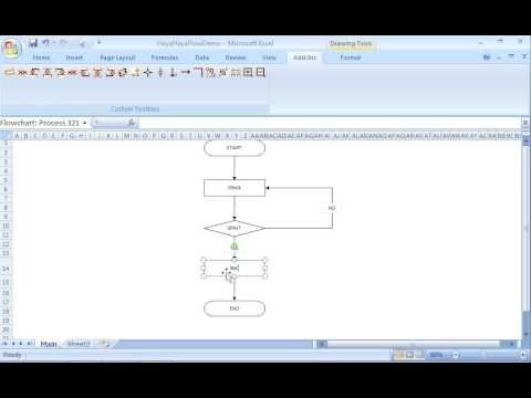 How to create a flowchart quickly in Excel.