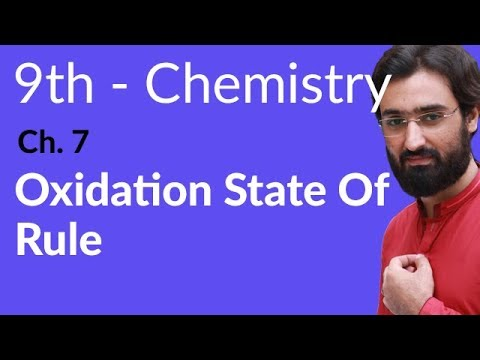 Oxidation State of Rules - Chemistry Chapter 7 Electrochemistry - 9th Class