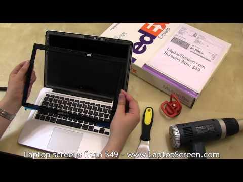 MacBook Pro 13 screen replacement /  Installation guide [Apple MacBook Pro 13 Unibody LCD repair]
