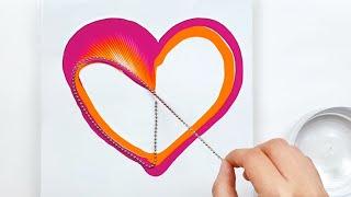 (235) Chain pull _ Tornado Heart _ Happy Valentine's Day _ Fluid Acrylic Pouring _ Designer Gemma77