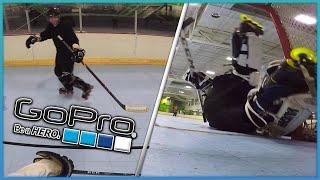 I PLAY GOALIE & FORWARD?!? (GoPro Roller Hockey)