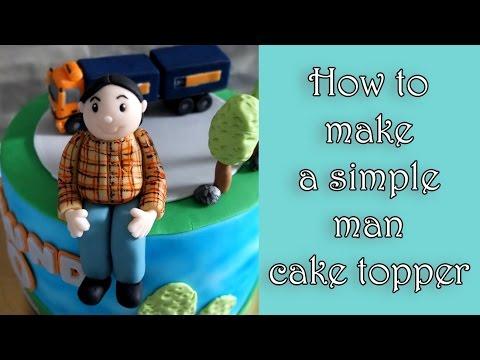 How to make a simple fondant man figure / Jak zrobić prostą figurkę mężczyzny z masy cukrowej