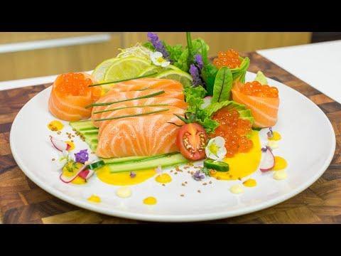 How to Make Salmon Sashimi Plate