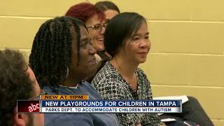 City of Tampa improves parks to benefit children with autism