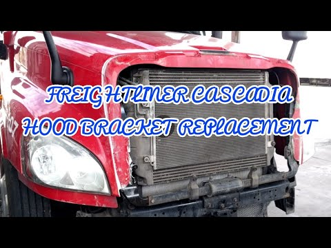 Freightliner Cascadia broken hood bracket Hood removal bracket removal replacement