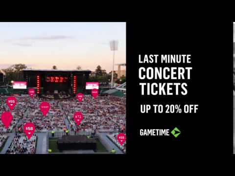 Last minute CONCERT TICKETS up to 20% off