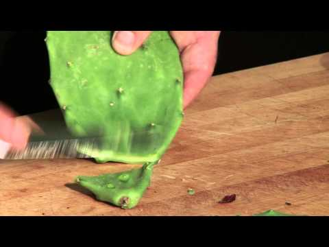 How To Clean A Nopales Cactus Paddle (Prickly Pears)