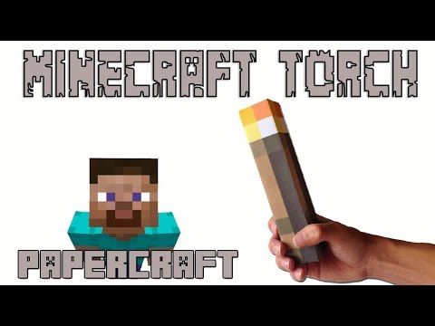 How to make a Real Life Minecraft TORCH (Papercraft Minecraft)