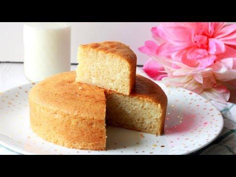 Eggless Vanilla Sponge Cake | Soft & Spongy