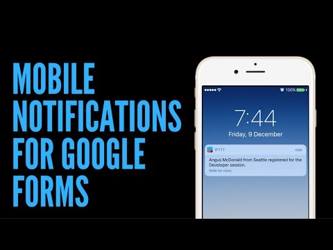 Mobile Notifications for Google Forms