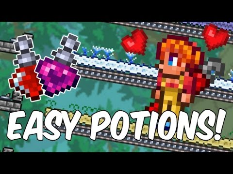 Terraria Let's Build Part 14 | EASY POTION FARM! | 1.3 Wiring & Conveyors | PC