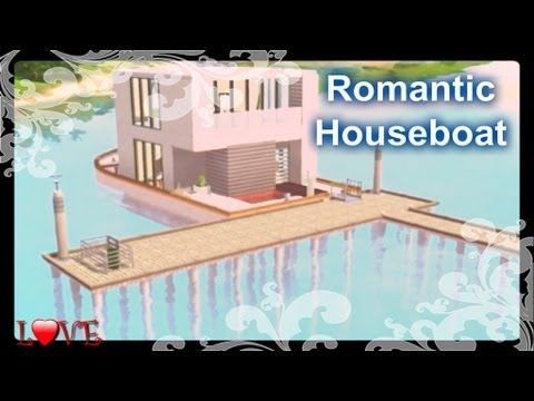 The Sims 3 - Building A Romantic House Boat For Two (Island Paradise)