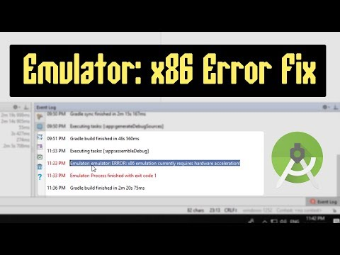[Fixed] emulator: error: x86 emulation currently requires hardware acceleration