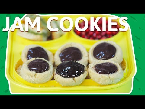 Jam Cookies | How To Make Jam Filled Butter Cookies | Jam Baked Cookies for kids