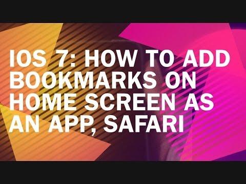 IOS 7: HOW TO ADD SAFARI WEB BOOKMARKS ON HOMESCREEN AS APP TILE