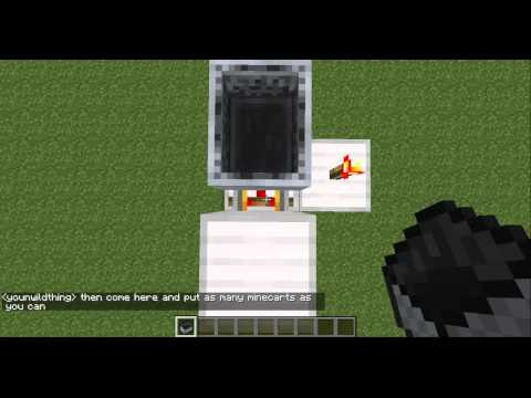 Minecraft - How To Make Minecarts Move Without Rails