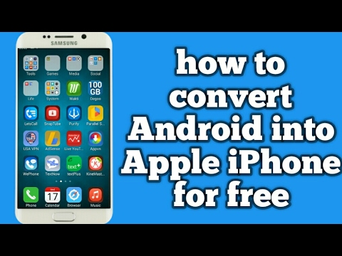 How to convert Android into Apple iPhone for free