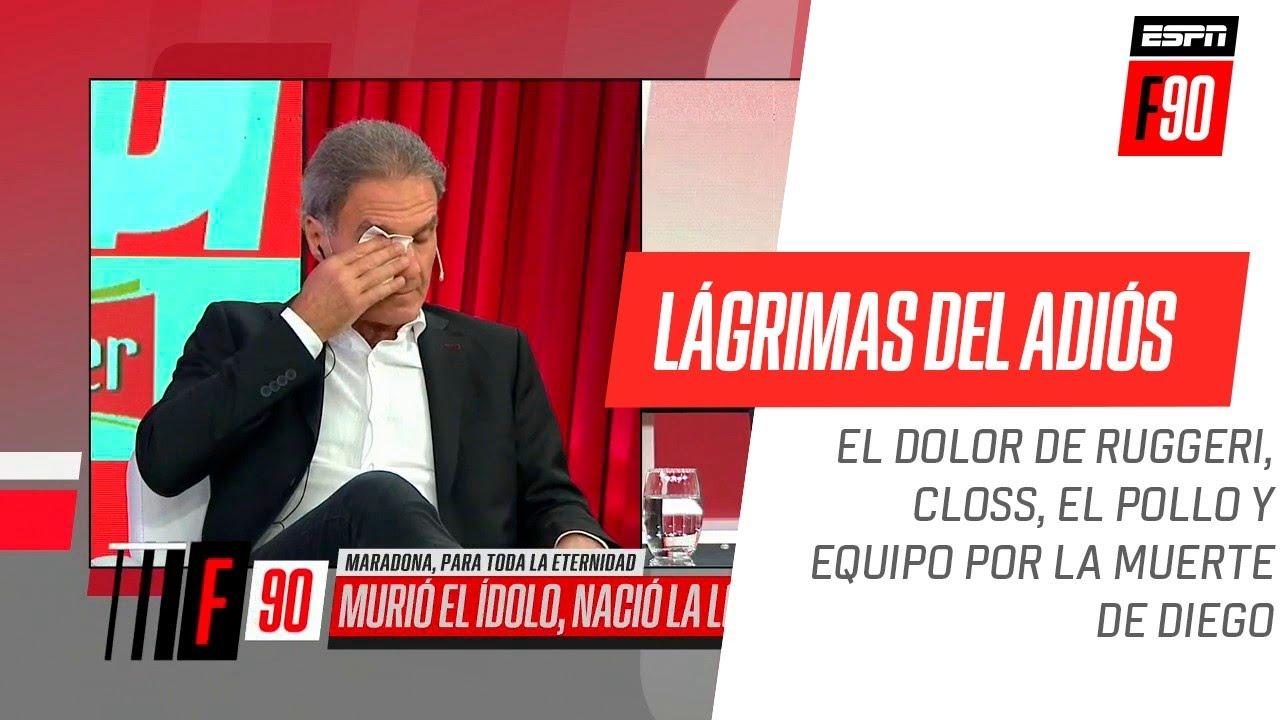 #Ruggeri, #Closs y el Pollo #Vignolo no pudieron contener las lágrimas por #Diego