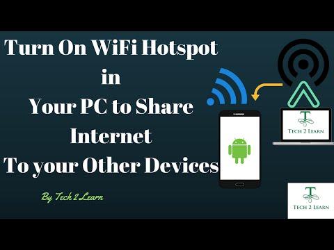 Turn WiFi Hotspot On PC/Laptop For Free. [ Urdu/Hindi ]