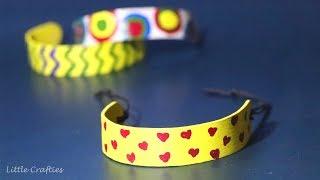 Ice Cream Stick Bracelet DIY | Popsicle Stick Crafts | Little Crafties