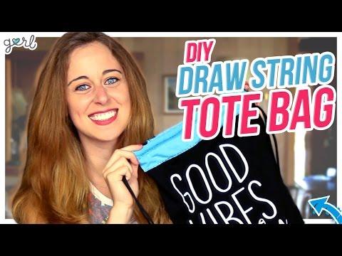 DIY Drawstring Bag Made From A Shirt! - Do It, Gurl