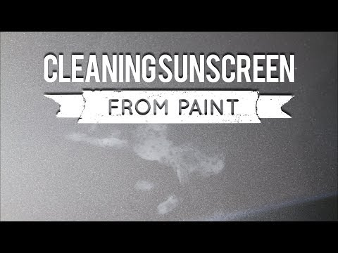 Cleaning sunscreen from your cars paint.
