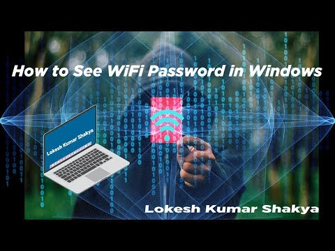 How to See WiFi Password in Windows 7/8/9/10/XP in Hindi || Connected WiFi ka Password kaise nikale