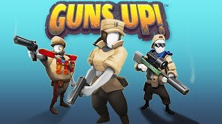 INFANTRY INVASION and BASE DEFENSE! - Guns Up Gameplay