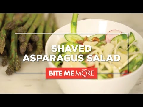 EASY HEALTHY RECIPE - Shaved Asparagus Salad + FUN Facts About Asparagus
