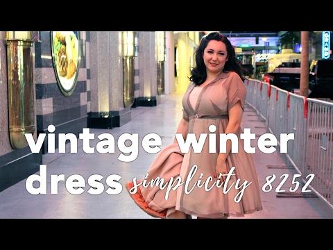 Vintage Winter Dress, Simplicity 8252