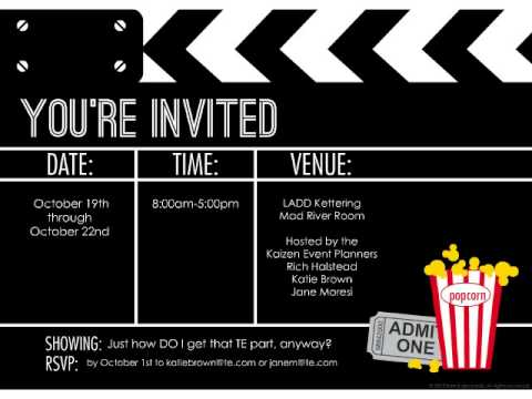 Movie Night Kaizen Invite